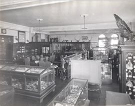 Museum Collection in McMahon Hall, ca. 1920