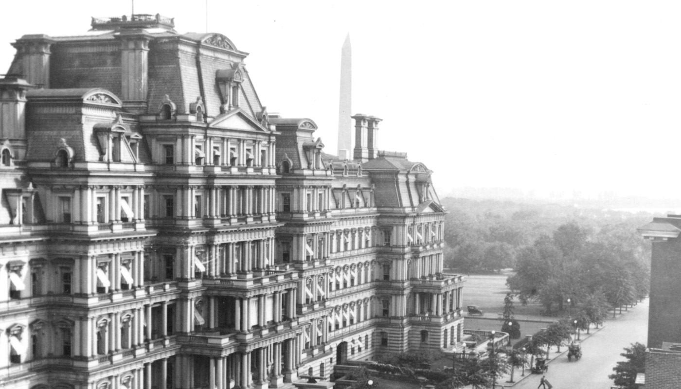 Historical photo of downtown Washington, D.C. from the Powderly photo collection