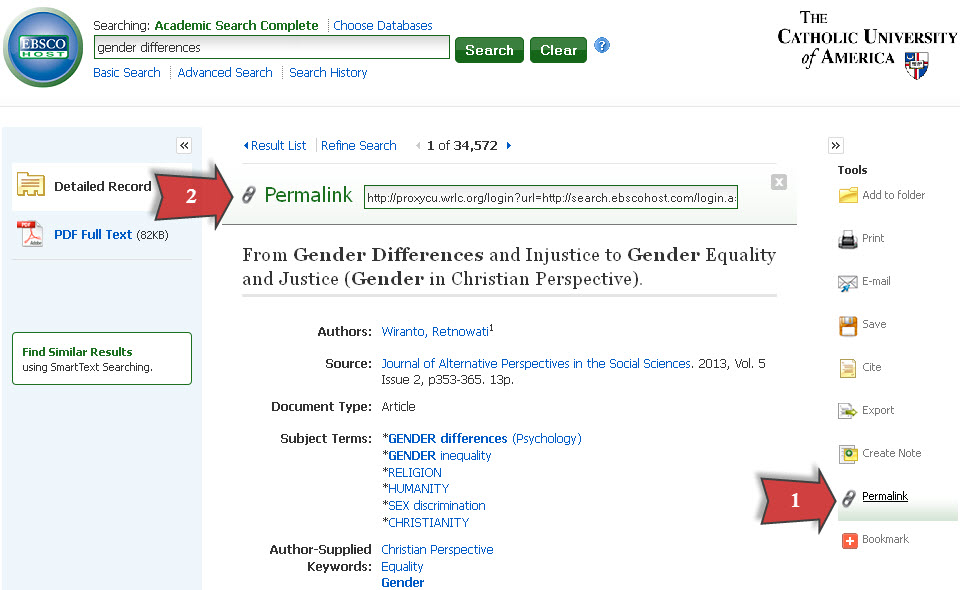 Ebsco screenshot