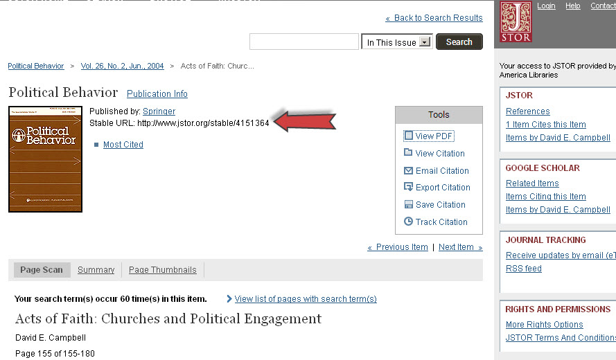 Jstor screen shot